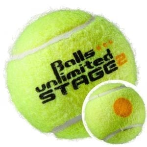 BALLS UNLIMITED Balls Unlimited Niveau 2 (orange)  – turneringsbold 60 stk. boldpose + boldspand