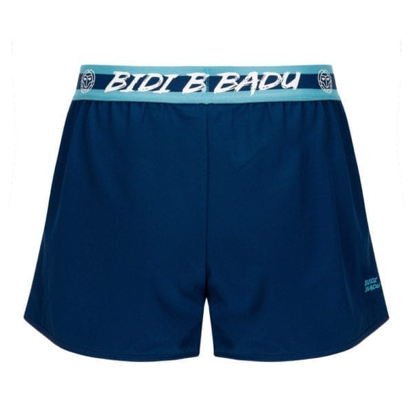 BIDI BADU Raven Tech Shorts (2 in 1) – mørskeblå/turkis